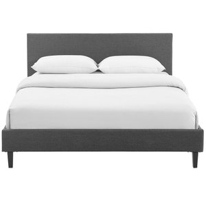 Anya Queen Bed Gray