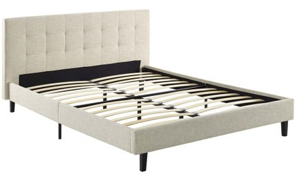 Linnea Full Bed Beige