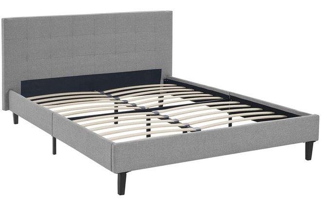 Linnea Full Bed Light Gray