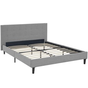 Linnea Queen Bed Light Gray