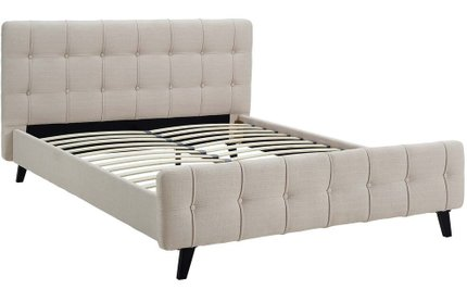 Ophelia Queen Bed Beige