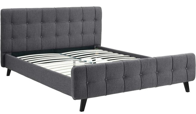 Ophelia Queen Bed Gray