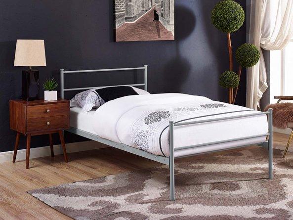 Alina Platform Twin Bed Frame Gray