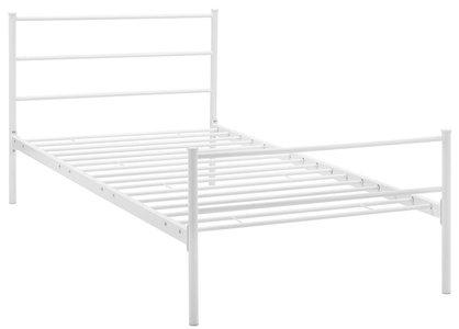 Alina Platform Twin Bed Frame White