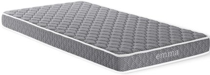 "Emma 6"" Twin Mattress Gray & White"