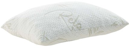 Relax Standard Queen Pillow White