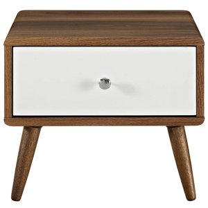 Transmit Nightstand Walnut And White