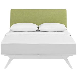 Tracy Queen Bed White And Green