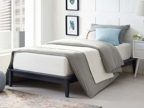 Lodge Platform Twin Bed Frame Gray