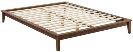 Lodge Platform Queen Bed Frame Walnut