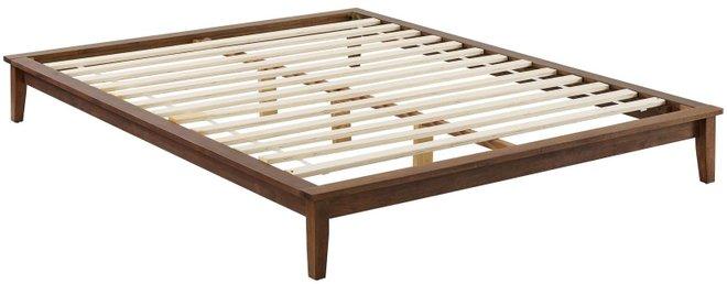 Lodge Platform Queen Bed Frame Walnut