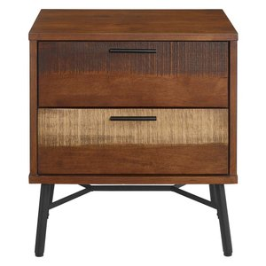 Arwen Rustic Wood Nightstand Walnut