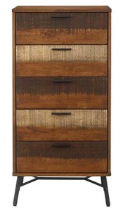 Arwen Rustic Wood Chest Walnut