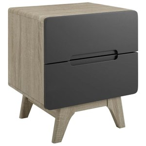 Origin Wood Nightstand Natural Gray