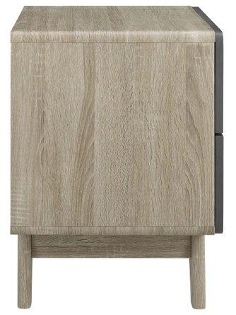 Origin Wood Nightstand Natural Gray