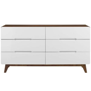 Origin Wood Dresser Walnut And White