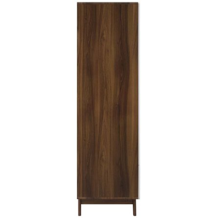 Origin Wood Wardrobe Cabinet Walnut And White