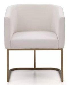 Epping Fabric Arm Chair White