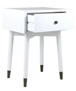 Alnil End Table With Storage White
