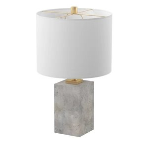 "Braunstein 17"" Table Lamp White And Gray"
