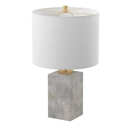 """Braunstein 17"""" Table Lamp White And Gray"""