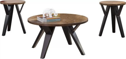 Aludra 3 Piece Coffee Table Set Brown