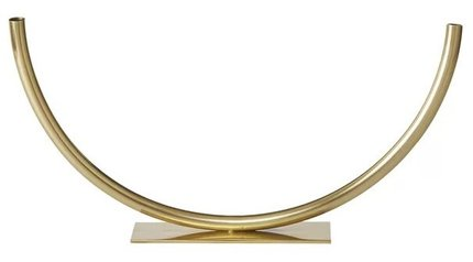 Hera Rounded Tube Table Small Vase Gold