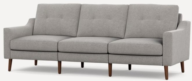 Nomad Low Arm Sofa Crushed Gravel And Walnut
