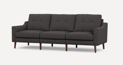 Nomad Low Arm Sofa Charcoal And Walnut