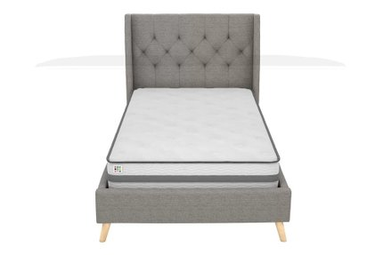 Hesketh Upholstered Platform Full Bed Gray