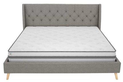 Hesketh Upholstered Platform King Bed Gray