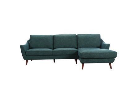 Olivia Sectional Sofa RHF Blue