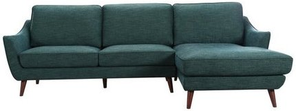 Olivia Sectional Sofa RHF Evergreen