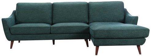 Olivia Sectional Sofa RHF Evergreen