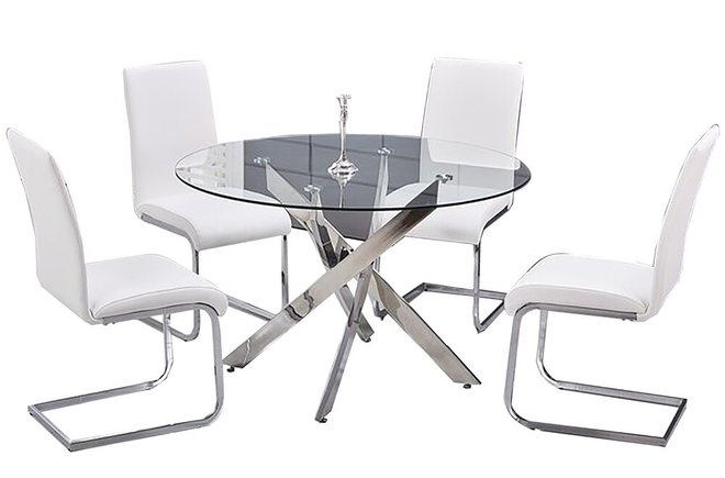 Fields Dining Set For 4 White