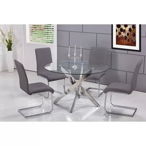 Fields Dining Set For 4 Gray