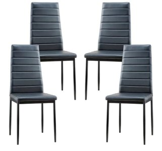 Victor Upholstered Dining Chair Black (Set Of 4)