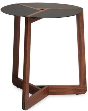 Pi Large Side Table Walnut And Black