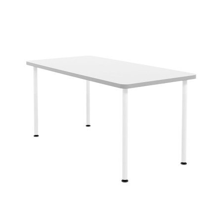 "Neak Rectangular Table 60"", White Legs"
