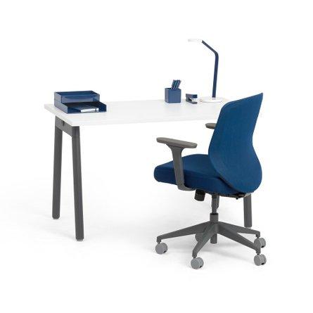 """Watson Single Desk 57"""", Charcoal Legs"""