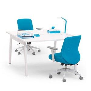 Watson Double Desk For 2, White Legs