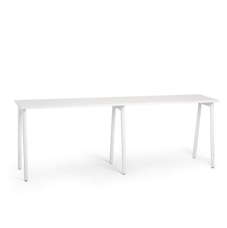 "Series A Standing Single Desk for 2, White, 47"", White Legs"