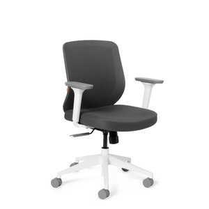 Tumer Task Chair Dark Gray White Frame