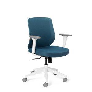 Tumer Task Chair Slate Blue White Frame