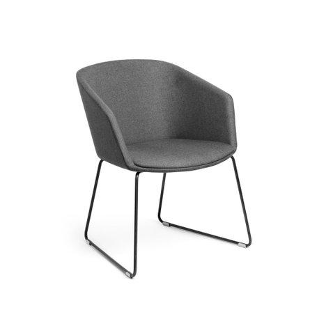 Pitch Sled Chair Dark Gray