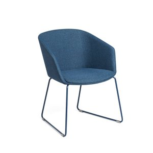 Pitch Sled Chair Dark Blue