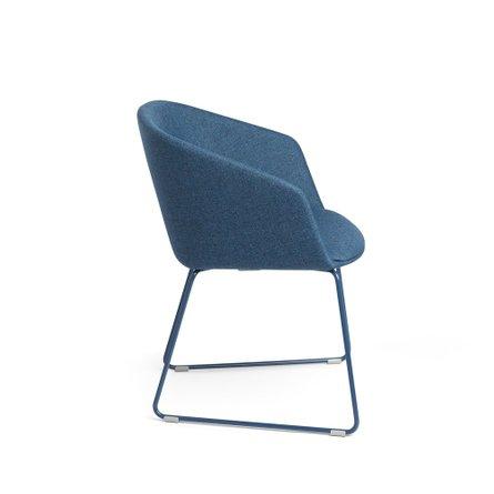 Pitch Sled Chair Dark Blue