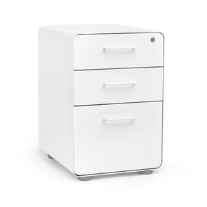White Stow 3-Drawer File Cabinet