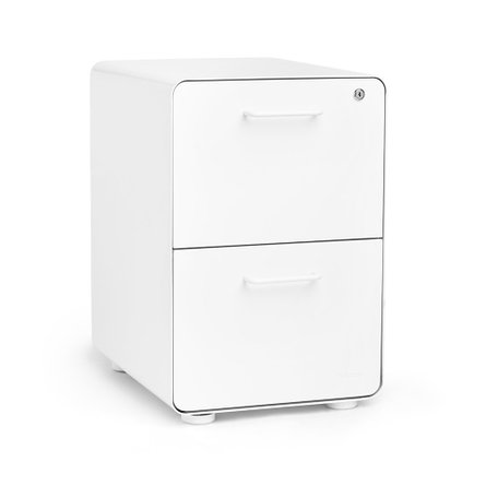 Stow 2-Drawer File Cabinet White
