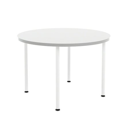 White Simple Round Table, 42""